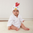 """Barnyard Bathtime"" Chicken Hooded Spa Robe"