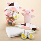 """Farmhouse Friends"" 3-Piece Bathtime Bucket Gift Set"