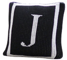 "Butterscotch Personalized Monogrammed Single Border Knitted Pillow (15"" x 15"")"