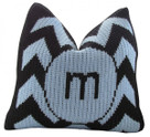 "Butterscotch Personalized Chevron Knitted Pillow (15"" x 15"")"