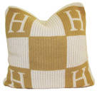"Butterscotch Personalized Initial Block Knitted Pillow (15"" x 15"")"