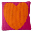 "Butterscotch Heart Knitted Pillow Non-Personalized (15"" x 15"")"