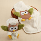 """My Little Night Owl"" Plush Velour Baby Blanket Baby Gift Set"