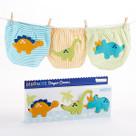 """""""DinoMite"""" 3-Piece Dinosaur Diaper Cover Baby Gift Set (6-12 Months)"""