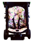 Pink Elephant Stroller Liner & Baby Elephant Ears Headrest Pillow Set