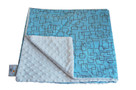 Blue Mod Square Baby Elephant Ears Blanket
