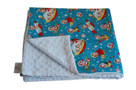 Retro Rockets Baby Elephant Ears Blanket