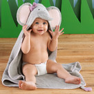 """Splish Splash Elephant Bath"" Hooded Spa Towel"