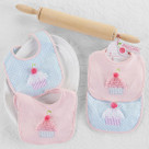 """Baby Cakes"" Two-Piece Bib Baby Gift Set"