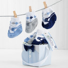 """Little Man"" 3 Pairs of Socks Baby Gift Set"