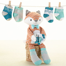 """Mr. Fox in Socks"" Plush Plus Socks Baby Gift Set"
