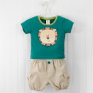 """King of the Jungle"" T-shirt and Diaper Cover Baby Boy Gift Set"