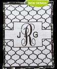Lattice Monogram Personalized Butterscotch Stroller Blankee