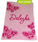 Butterfly Personalized Stroller Butterscotch Blankee