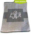 Scroll with Script Monogram Personalized Stroller Butterscotch Blankee