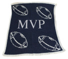 Floating Football Initials Personalized Stroller Butterscotch Blankee
