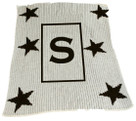 Stars and Initial Personalized Stroller Butterscotch Blankee