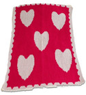 Hearts Non-Personalized Stroller Butterscotch Blankee