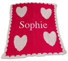 Floating Hearts Personalized Butterscotch Blankee