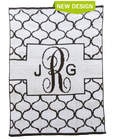 Lattice Monogram Personalized Butterscotch Blankee