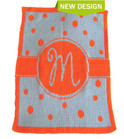 Single Initial Polka Dot Personalized Butterscotch Blankee