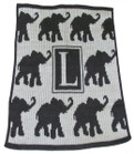 Walking Elephants Personalized Butterscotch Blankee