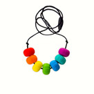 Rainbow Chunky Teething Bling Necklace