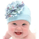 Baby Blue Hydrangea Baby Hat
