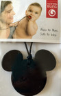 Black Mouse Pendant Teething Bling Necklace