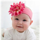 Candy Pink Daisy Headband