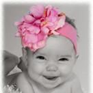 Candy Pink Peony Headband