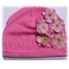 Candy Pink Hydrangea Baby Hat