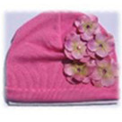 Candy Pink Hydrangea Baby Hat