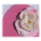 Candy Pink Rose Baby Hat