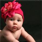 Raspberry Peony Baby Hat