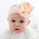pale Pink Rose Headband