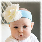 Teal Rose Headband