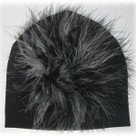 black & White Marabou Toddler Hat