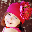 Red Raspberry Peony Toddler Hat