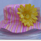 Candy Pink Strip Sun Hat
