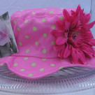 Candy Pink Sunhat with Lime Dots- Daisy
