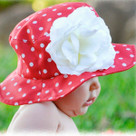 Red with White Dot Sun Hat