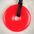 Candy Red Apple Donut Teething Bling Necklace