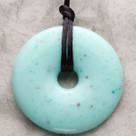Jade Donut Pendant Teething Bling Necklace