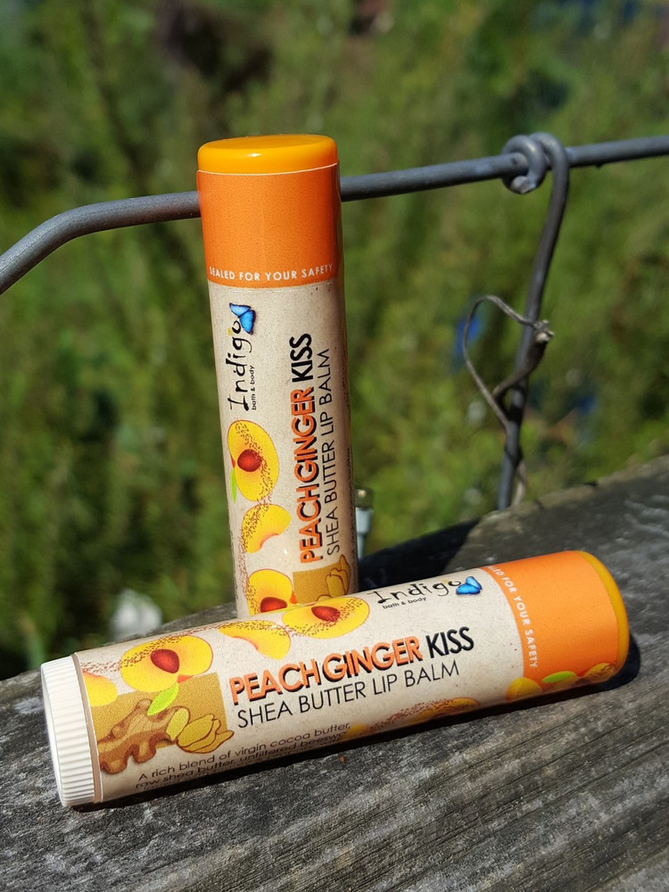 Shea Butter Kisses Lip Balm - Peach Ginger (Limited Edition)