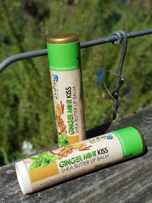 Shea Butter Kisses Lip Balm - Ginger Mint (Limited Edition)