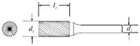 Cylinder Shape Bur With End Cut