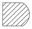 Plunge Handgrip Router Bit Cutting Profile
