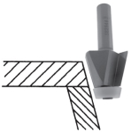 Bevel Undermount Router Bit for Solid Surface