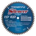 """Silencer Saw Blade, 10"""" Dia, 60T, 0.098"""" Kerf, 5/8 - Tenryu SL-25560"""
